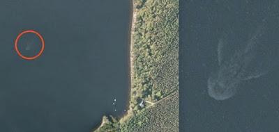 Apple satellite Loch Ness Monster imagery