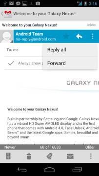 GMail no Samsung Galaxy Nexus