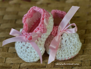 lacy crochet booties