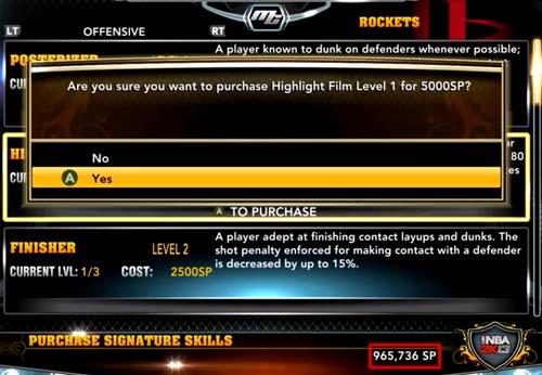 NBA 2K13 - MyPlayer Unlimited Skill Points - NBA2K.ORG