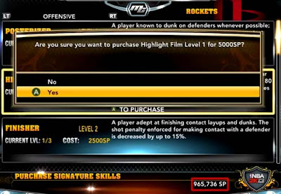 NBA 2K13  MyPlayer Unlimited Skill Points 99 Overall rating