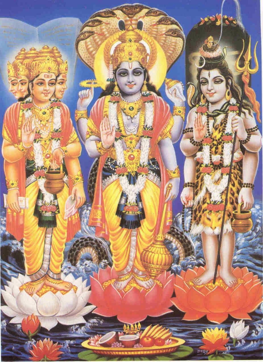 brahma vishnu shiva hindu gods