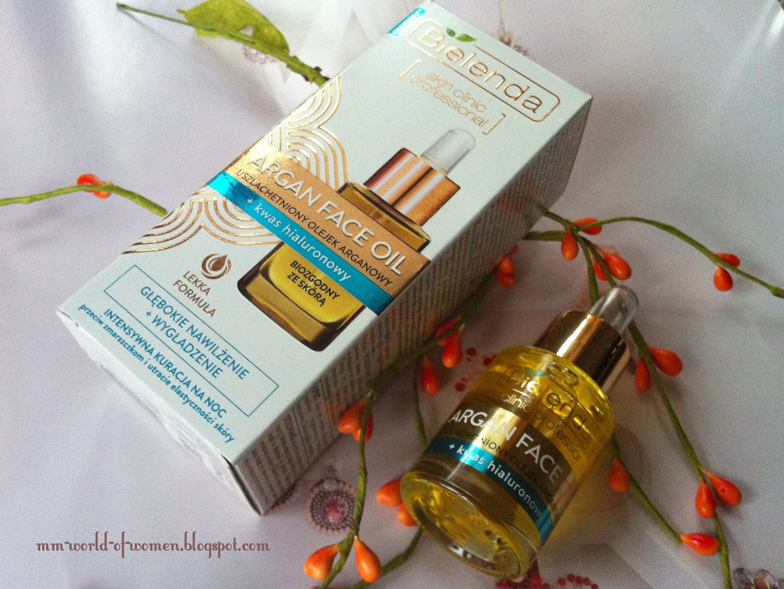 Bielenda Skin Clinic professional Argan Face Oil Uszlachetniony olejek arganowy + kwas hialuronowy