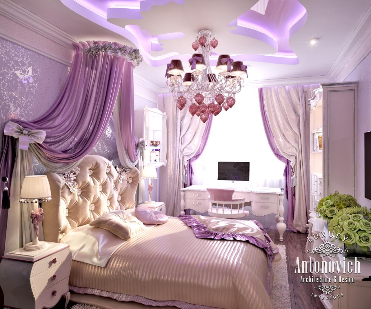 LUXURY ANTONOVICH DESIGN UAE: Pink girly bedroom from ...
