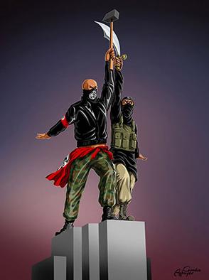 Ilustrasi gambar perang