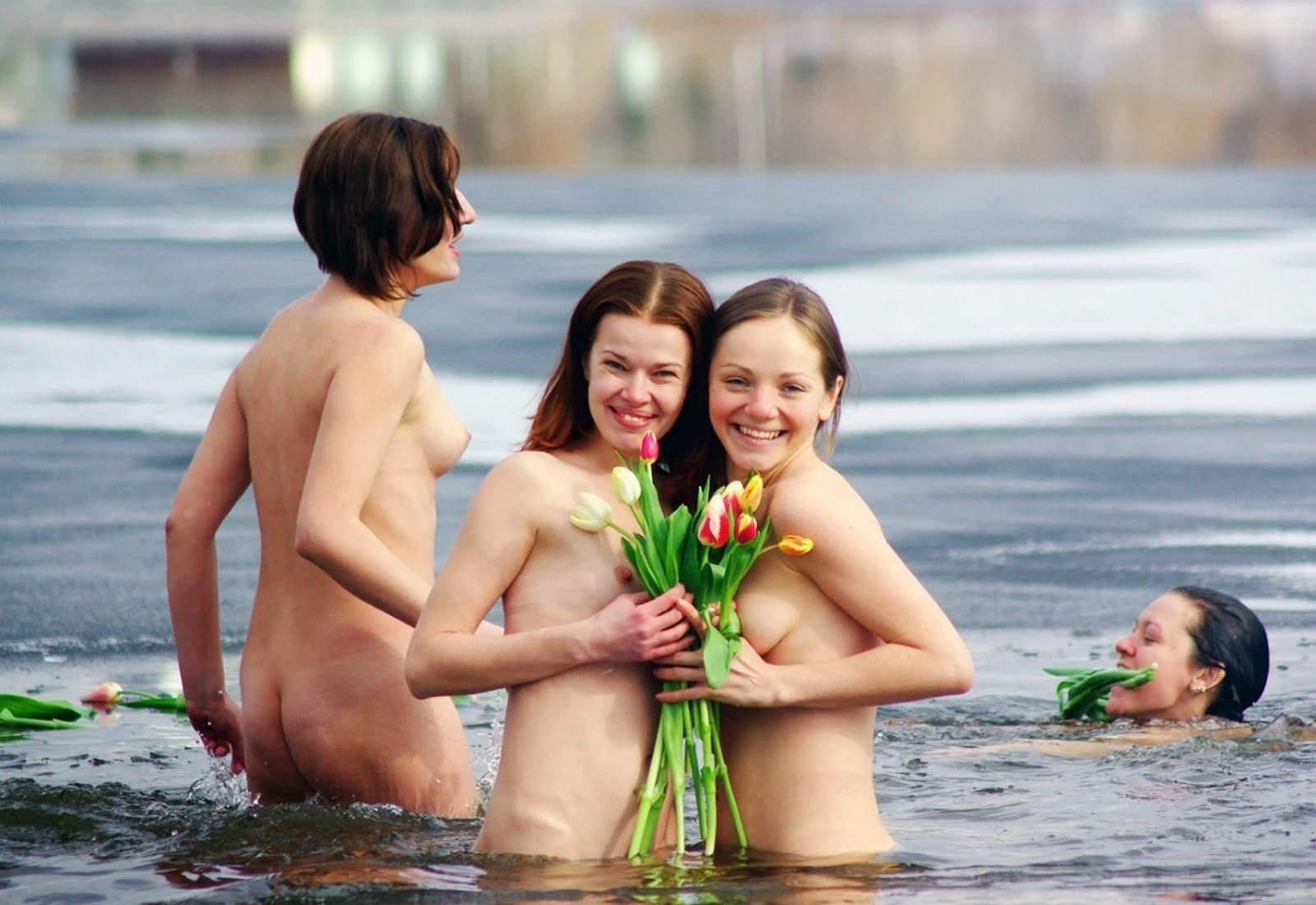 Cute family nudism pics her look
