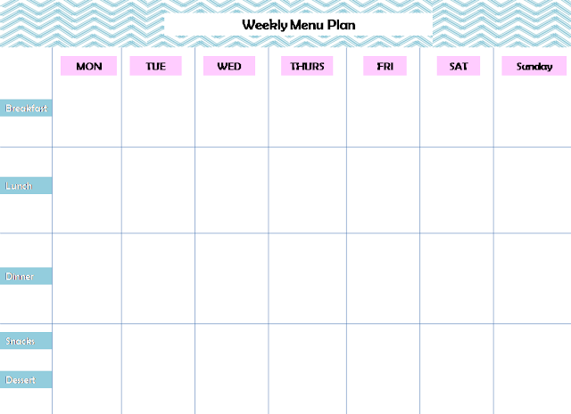 Weekly Menu Planning Printable Pursuit of Functional Home – Free Menu Planner Template