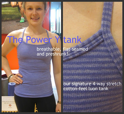 lululemon persian purple power y tank