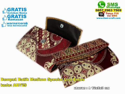 dompet batik medium special list emas