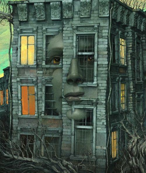 Andrew Ferez 25kartinok deviantart ilustrações sombrias surreais Memórias