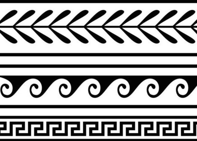 Classical decoration such as the simple and elegant border patterns