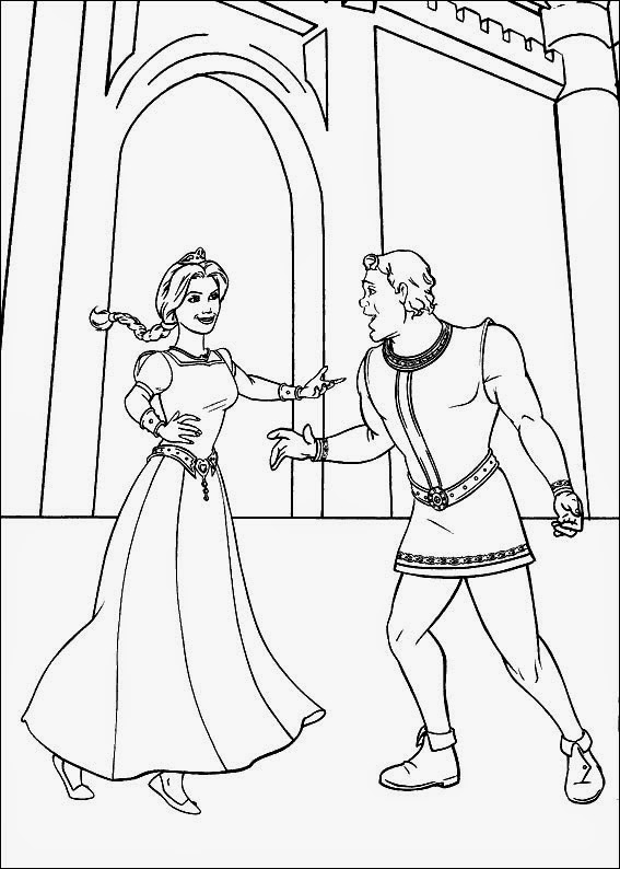 kids under 7 shrek coloring pages