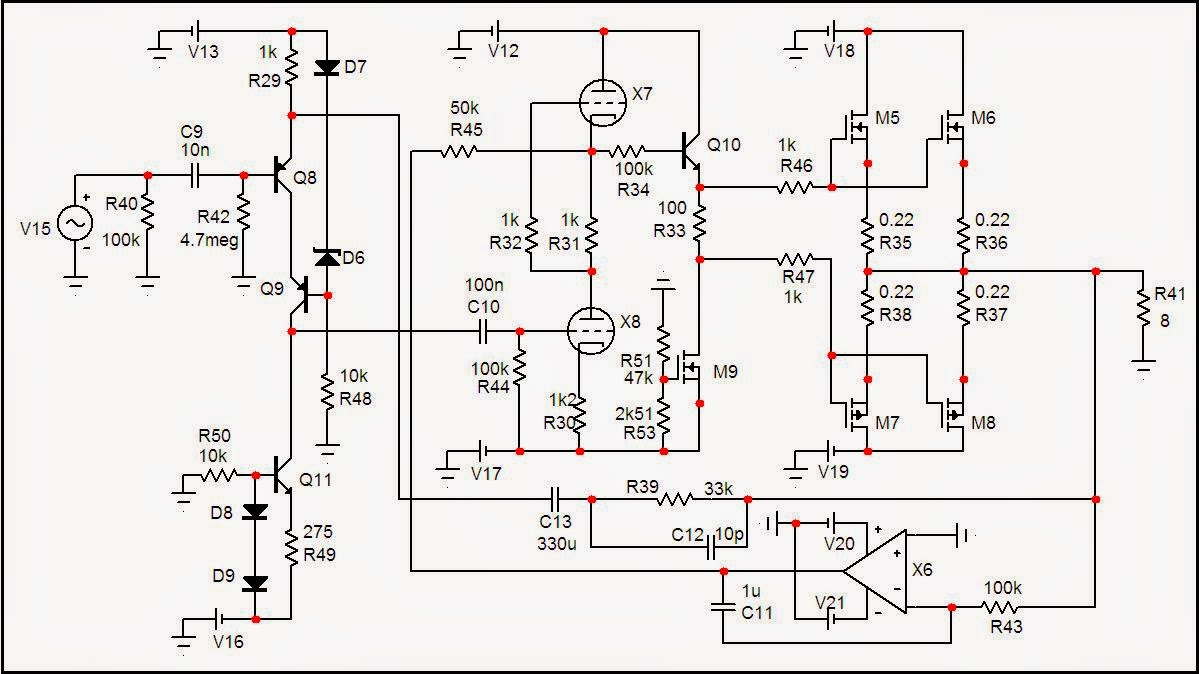 Espritaudio Luxman Lv 105 Style Hybrid Amplifier 100w Simulated Circuit Diagram Projects Schematic