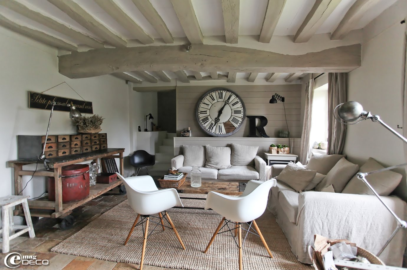 D co salon longere - Idee deco maison stille moderne ancien ...