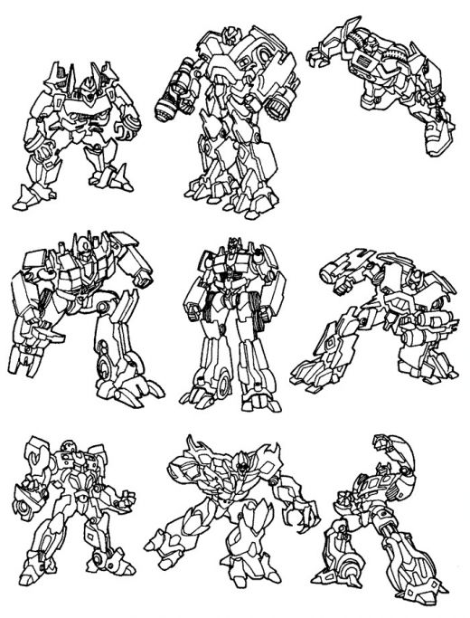 9 Transformers Coloring Pages