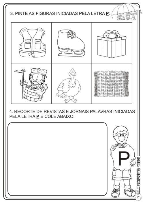 Atividade Patati  Patatá Letra P