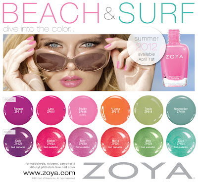 Zoya, Zoya nail polish, Zoya Summer 2012 Nail Polish Collections, Zoya Summer 2012 Beach and Surf Collections, Zoya Beach, Zoya Surf, Zoya Beach Summer 2012, Zoya Surf Summer 2012, nail, nails, nail polish, polish, lacquer, nail lacquer, Zoya nail polish, Zoya nail lacquer