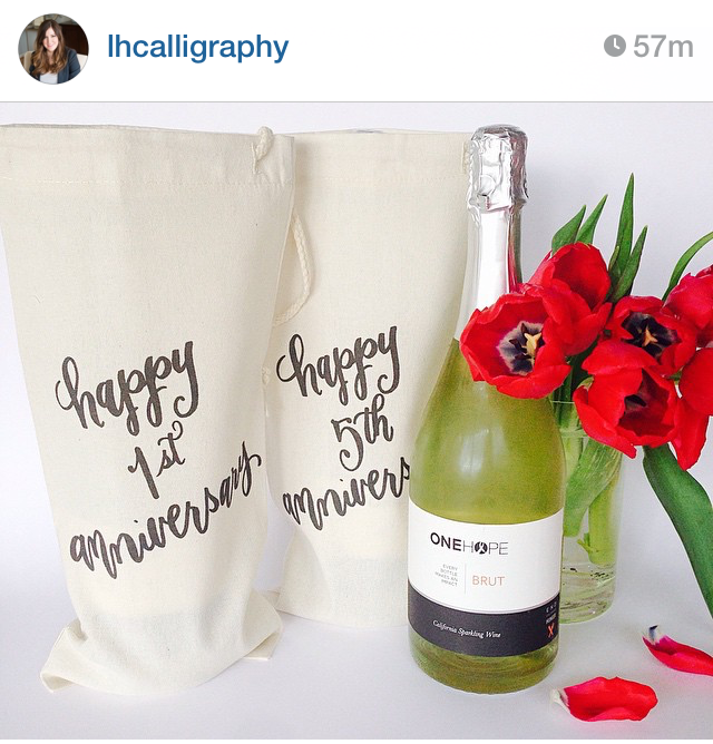 caligraphy wine bottle bags - Dog Hair Is An Accessory