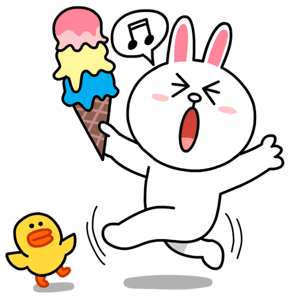 Line Sticker Brown Special Edition