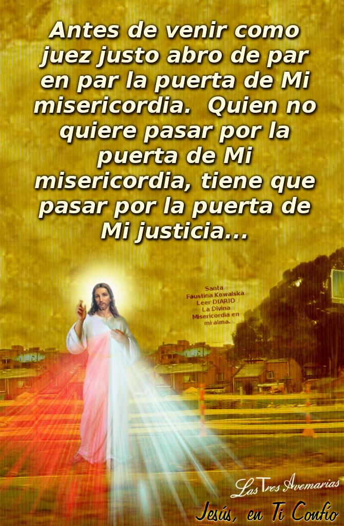 fotografia de la divina misericordia con mensaje del diario