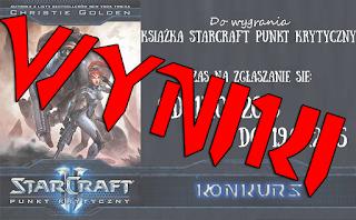 Wyniki konkursu na książkę Starcraft Punkt Krytyczny