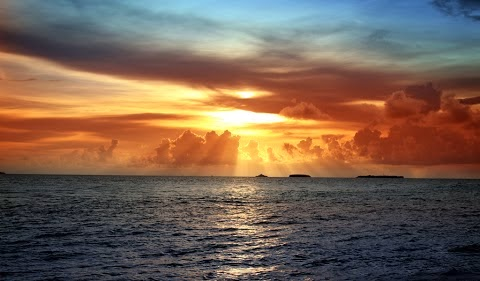 Clouds Sea Sunset Nature Widescreen Images Wallpapers Free Downloads