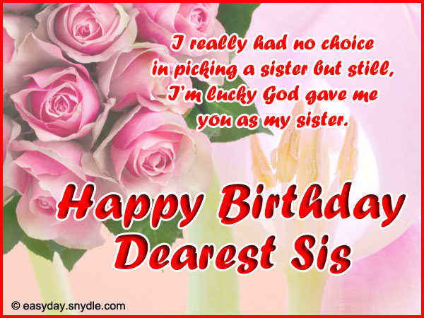 Birthday Ecards Sister ~ Happy birthday wishes and images for sister pictures messages