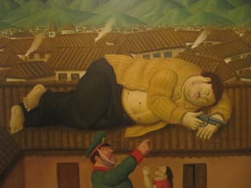 """""""La muerte de Pablo Escobar"""" by Fernando Botero"""