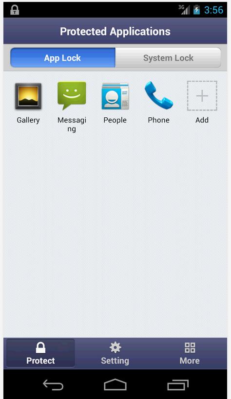 Скриншоты к программе Smart AppLock (App Protector) .