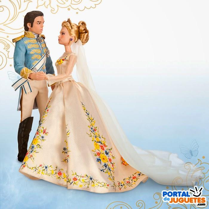 set boda cenicienta principe azul cenicienta disney store muñecos