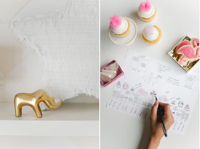 Dessert stylist Shauna Younge sketches a client's custom dessert table. | pics: Melissa Oholendt
