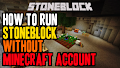 HOW TO INSTALL<br>StoneBlock Modpack (cracked) [<b>1.12.2</b>]<br>▽