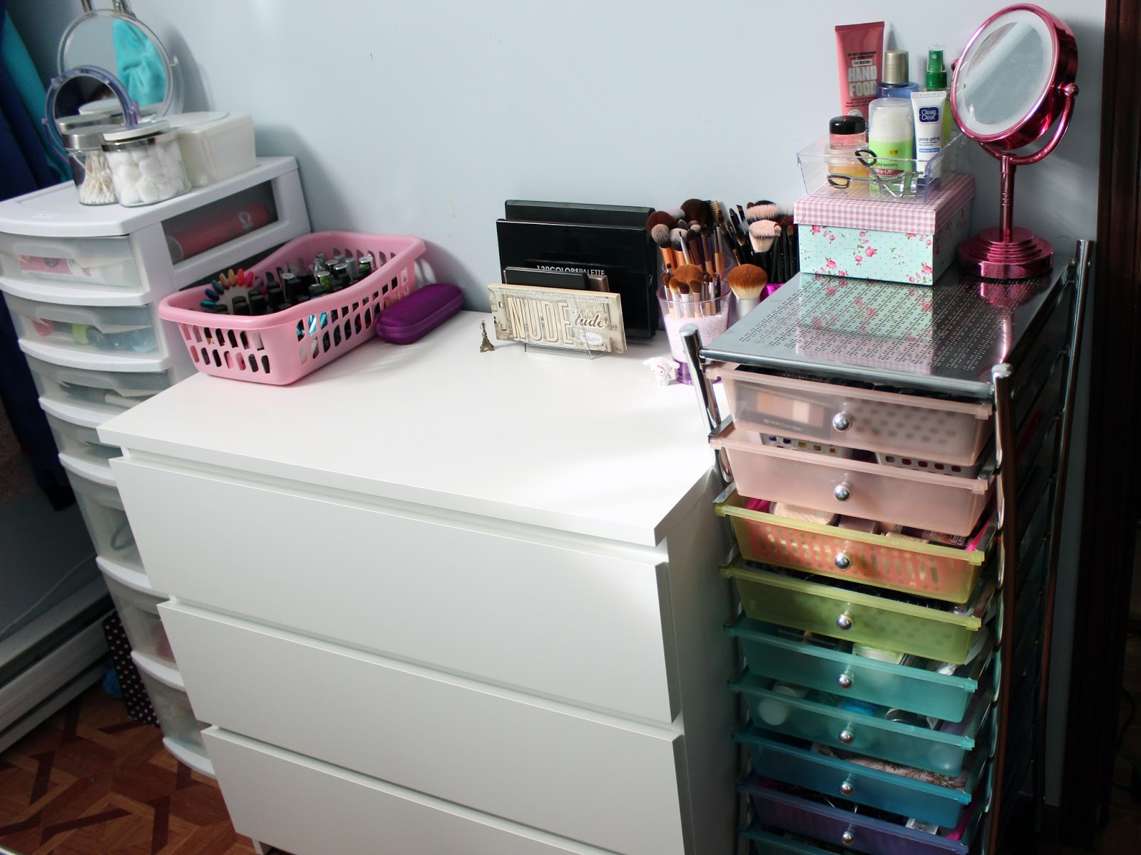 My Affordable Beauty Storage : Makeup, Nails, Hair And Accessories  Organisation Tips And Ideas!