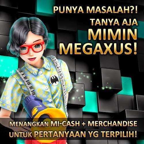 Mau MI-Cash dan Merchandise Gratis Megaxus? Baca Ini