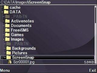 Lokasi Penyimpanan Screenshot di Memori Telepon  (C:\DATA\Images\Screensnap)