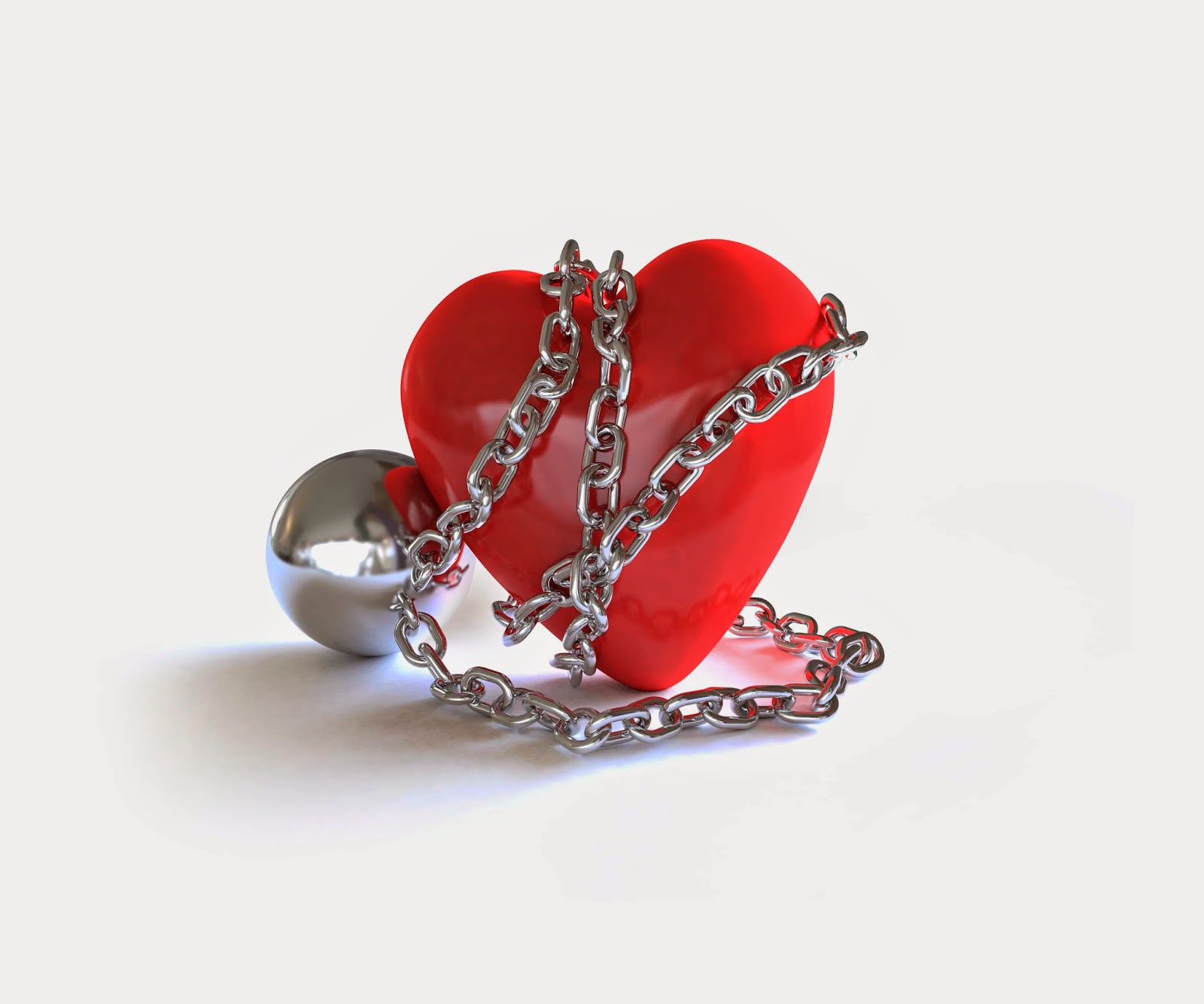 Heart wrapped in chains