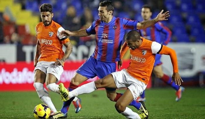 Malaga vs Levante en vivo