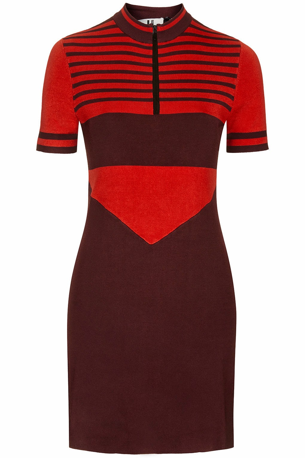 red striped dress topshop, red stripe knitted dress,