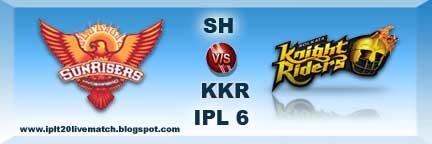 SH vs KKR IPL Live Streaming Video SH vs KKR Live Scorecards