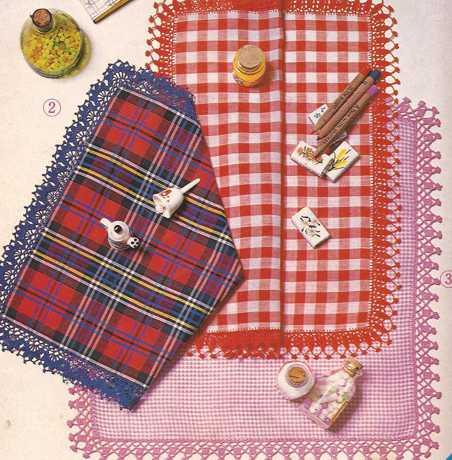 Puntillas para pañuelos de color a Crochet