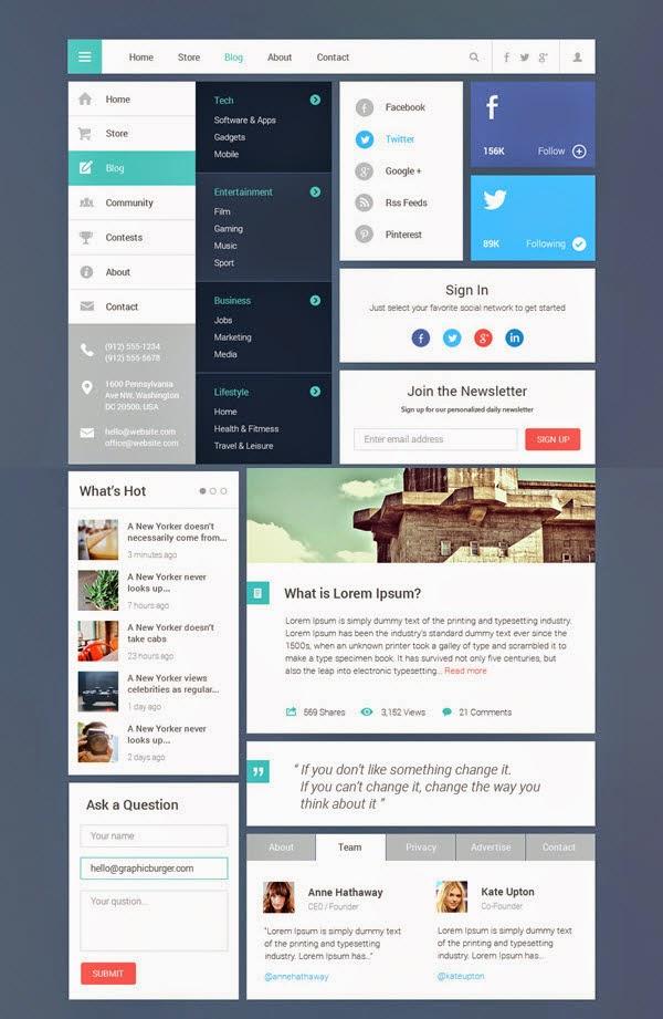Blog / Magazine UI Kit