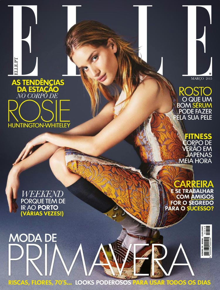 Actress, Model @ Rosie Huntington Whiteley - ELLE Portugal, March 2015