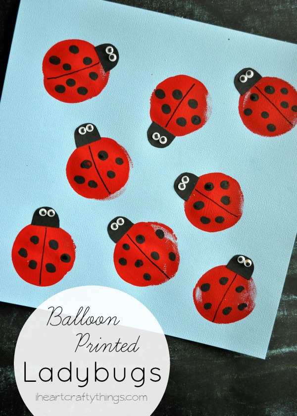 I HEART CRAFTY THINGS: Balloon Print Ladybug Kids Craft
