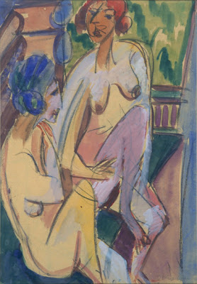 Ernst Ludwig Kirchner - women in the bath, 1919