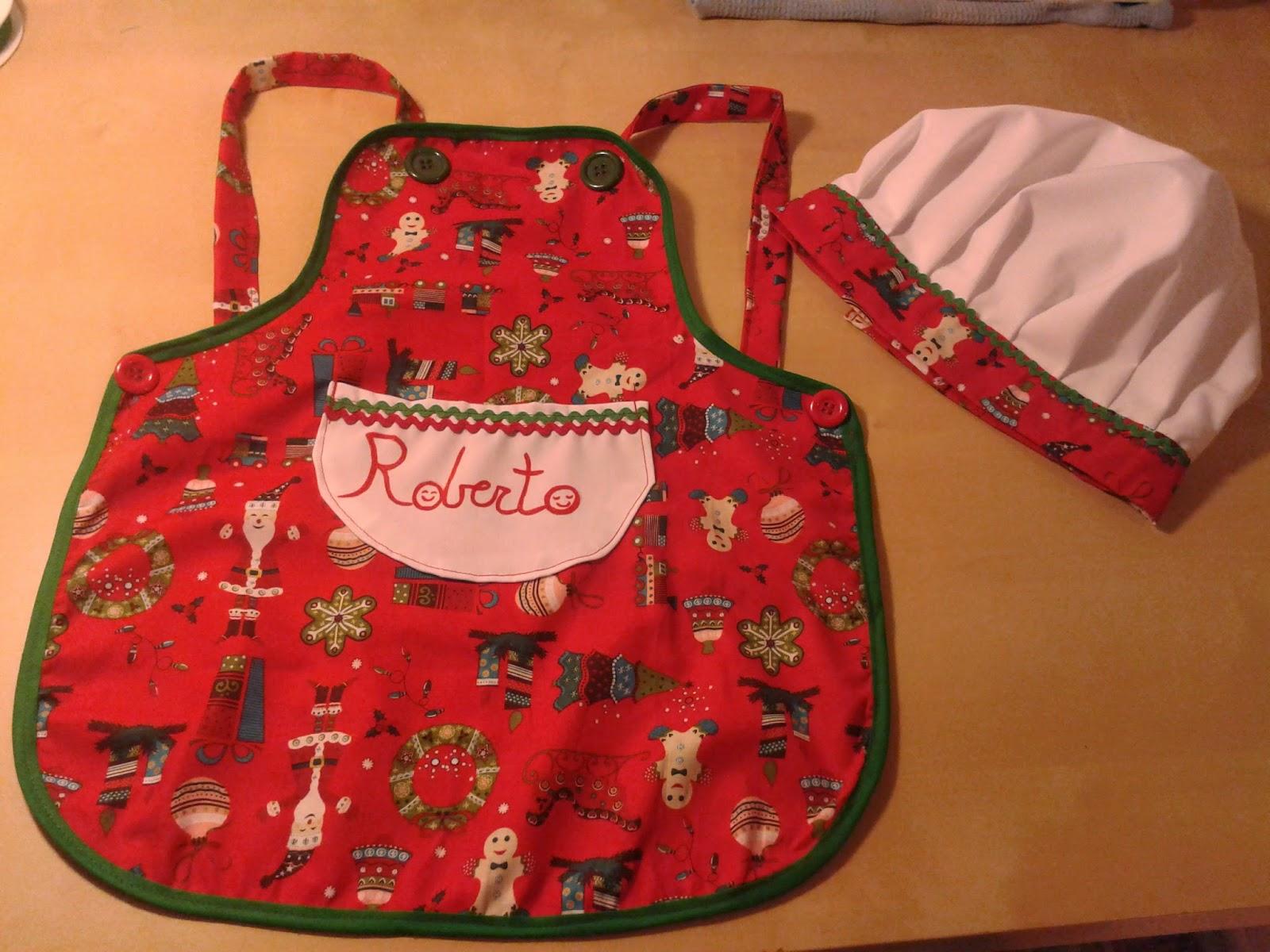 Las cositas de marga delantal y gorro de cocinero for Cocina navidad con ninos