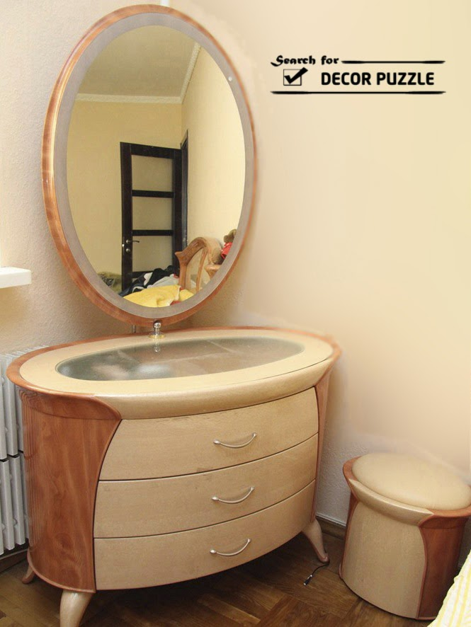 Unique modern corner dressing table designs for small bedroom for Bedroom dressing ideas