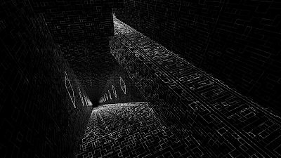 Dark Stiars optical illusion Horror stairs illusion