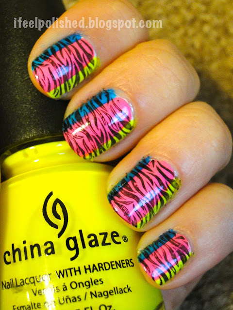 LMFAO Neon Zebra Stripes