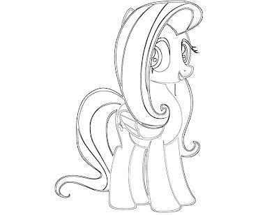 #7 Fluttershy Coloring Page