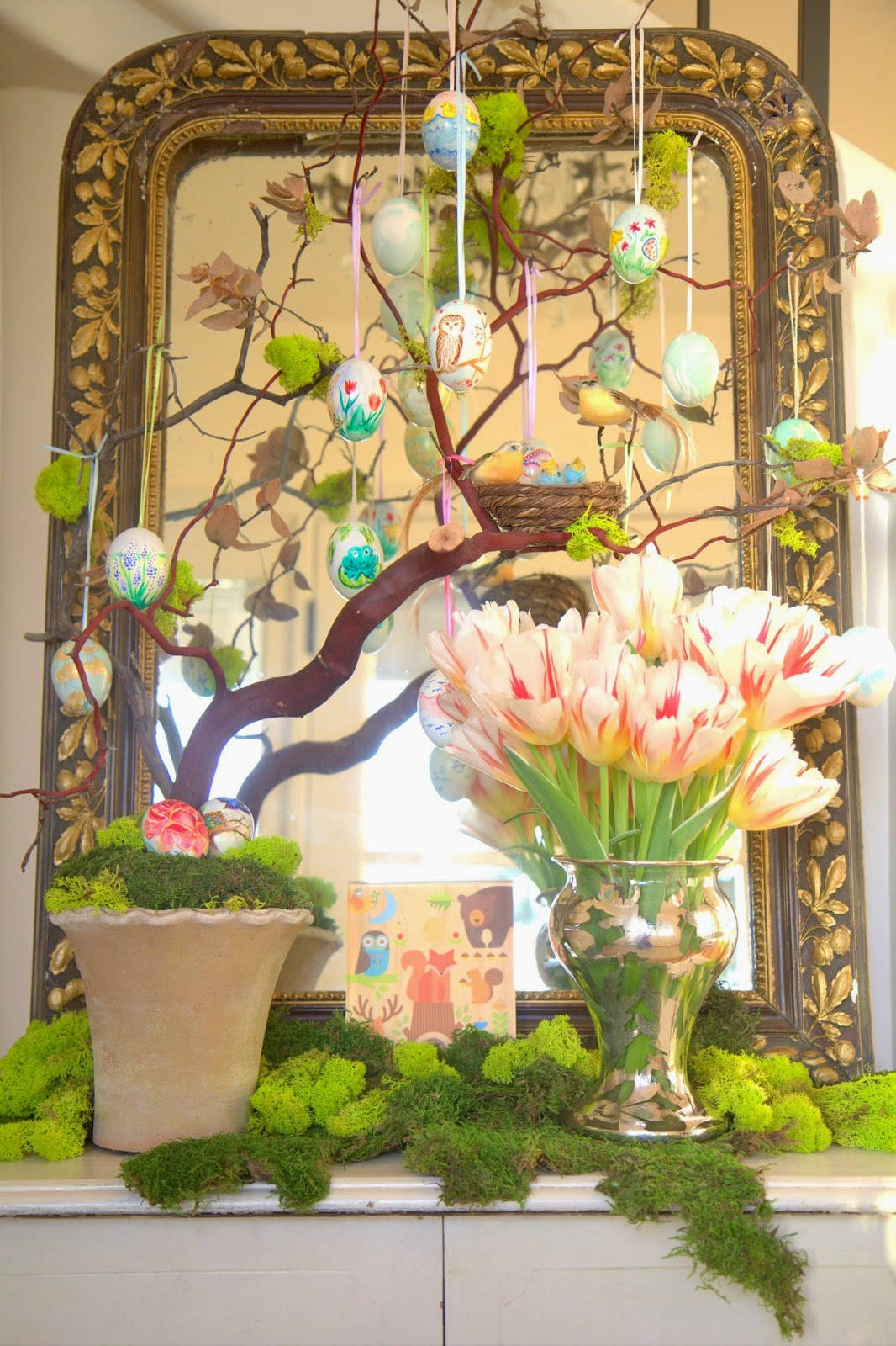 Woodland Party; Easter Egg Tree and Foyer Table: Nora's Nest